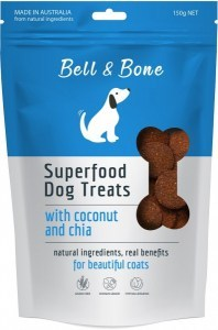 Bell & Bone Superfood Dog Treats with Coconut & Chia 150g