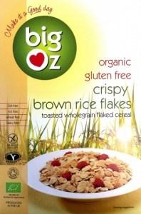 Big Oz Organic Crispy Brown Rice Flakes  350g