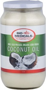 Bio-Medicals Organic Extra Virgin Coconut Oil Glass Jar 1L