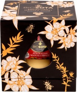 Biosota Organics Manuka Honey MGO 30+ Black Gift Box 250g