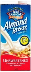 Blue Diamond Almond Breeze Unsweetened 8x1L