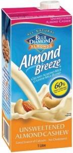 Blue Diamond Almond Breeze Unsweetened Almond & Cashew 8x1L