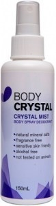 Body Crystal Fragrance Free Mist Spray 150ml