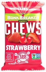 Bonk Breaker Organic Energy Chews Strawberry with Caffeine  50g