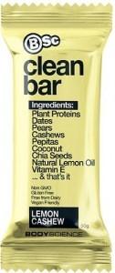 BSc Clean Plant Protein Lemon Cashew Bars 12x50g