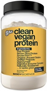 BSc Clean Vegan Protein Powder Salted Caramel  1Kg