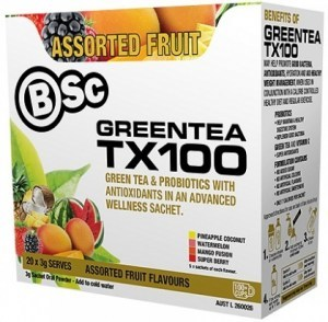 BSc Green Tea TX100 Mixed Fruit 20x3g Serve Pack