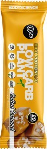 BSC High Protein Low Carb Plant Bars Salted Caramel 12x45g
