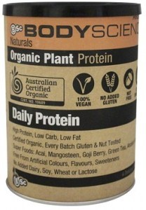BSc Body Science Naturals Organic Vegan Plant Protein Vanilla 350g