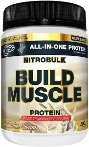 BSc Nitrobulk Build Muscle Protein Vanilla Ice Cream Powder 500g
