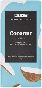 BSKT Vegan Chocolate Slab Coconut  80g