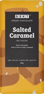 BSKT Vegan Chocolate Slab Salted Caramel 80g
