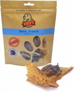 Bugsy's Pet Treats Mack Attack Wild Caught Mackerel Jerky 100g