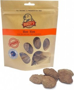 Bugsy's Pet Treats Moo Moo Grass Fed Aust Beef & Gojiberry 70g FEB20