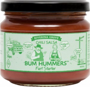 Riverina Grove Bum Hummers Organic Chilli Salsa  300g