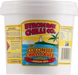 Byron Bay Chilli Fiery Coconut Chilli Sauce Bucket  1Kg