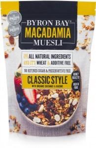 Byron Bay Macadamia Muesli Classic Style 2Kg