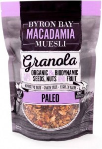 Byron Bay Macadamia Muesli Gluten Free Granola Paleo Mix Honey Roasted 450g