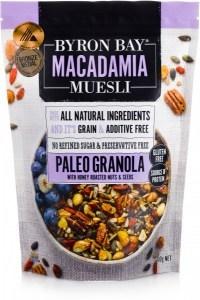 Byron Bay Macadamia Muesli Gluten Free Paleo Granola Honey Roasted 400g