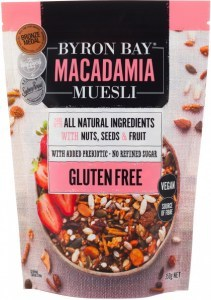 Byron Bay Macadamia Muesli Gluten Free Vegan 350g