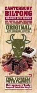 Canterbury Biltong Original A/D Beef with Coriander & Pepper 100g