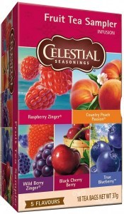 Celestial Seasonings Fruit Tea Sampler 18 Teabags (5 Flavours)