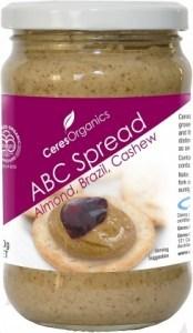 Ceres Organics ABC Spread 300g (Almond, Brazil, Cashew)
