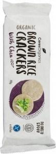 Ceres Organics Bio Brown Rice Crackers with Chia  115g