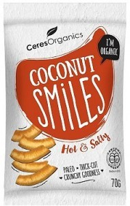 Ceres Organics Bio Coconut Smiles Hot & Salty 70g