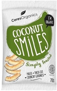 Ceres Organics Bio Coconut Smiles Simply Toasted 70g