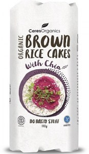 Ceres Organics Brown Rice Cakes with Chia 110g