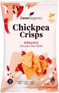 Ceres Organics Chickpea Crisps Organic Sriracha Thai Chilli  100g