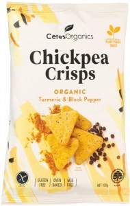 Ceres Organics Chickpea Crisps Organic Turmeric & Black Pepper  100g