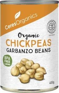 Ceres Organics Chickpeas/Garbanzo Beans 400g (Can)