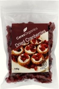 Ceres Organics Dried Cranberries 140g