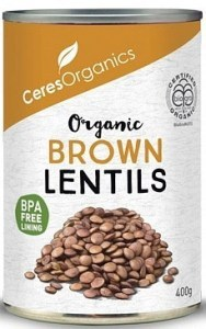 Ceres Organics Lentils Brown 400g (Can)