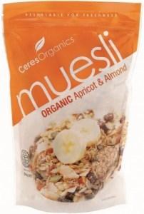Ceres Organics Muesli Apricot Almond 700g