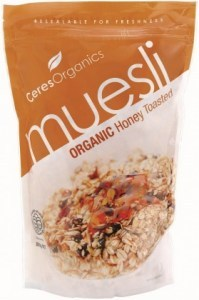 Ceres Organics Muesli Honey Toasted 800g