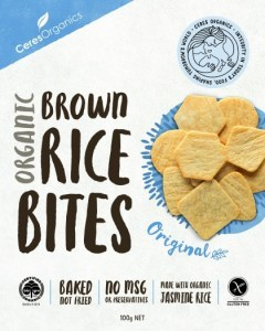Ceres Organics Organic Brown Rice Bites Original  100g Box