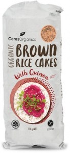 Ceres Organics Organic Brown Rice Cakes with Quinoa 110g