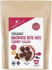 Ceres Organics Organic Brownie Bite Mix Chewy Cacao 220g