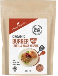 Ceres Organics Organic Burger Mix Lentil & Black Sesame 320g