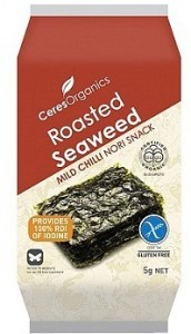 Ceres Organics Roasted Seaweed Mild Chilli Snacks  5g