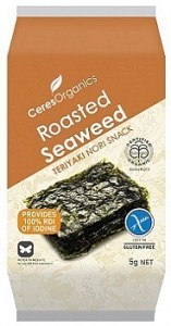 Ceres Organics Roasted Seaweed Teriyaki Snacks  5g