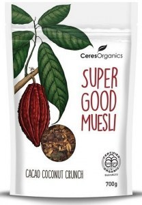 Ceres Organics Super Good Muesli Cacao Coconut Crunch 700g