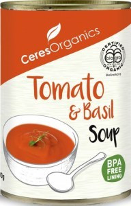 Ceres Organics Tomato Basil Soup 400g (Can)