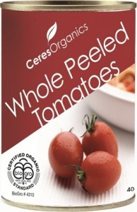 Ceres Organics Tomatoes Whole Peeled 400g (Can)