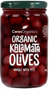 Ceres Organics Whole Kalamata Olives with Pits 320g