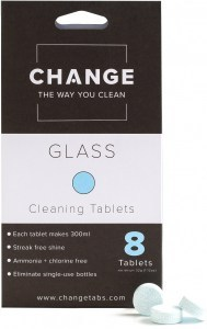 Change Glass Cleaning Tablets (8 Tablets Pouch)