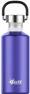 Cheeki Classic Stainless Steel Lavender Bottle 500ml